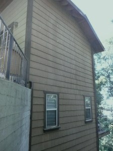 House side of composite siding